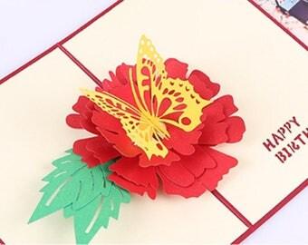 Handmade 3D pop up popup birthday card paper craft art handicraft birthday card him her kid child father mother friend family grandparents