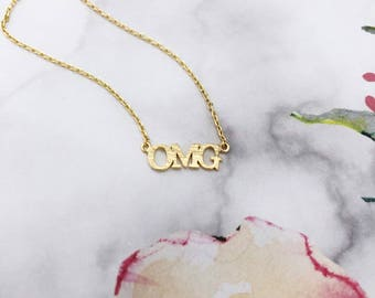 Gold OMG Dainty Necklace
