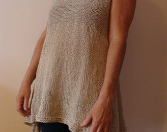 Woman tunic top cotton linen