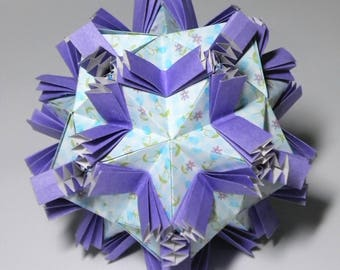 Butterflies Kusudama Modular Origami Ball Blue Patterned Decoration Ornament