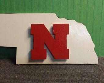 Nebraska Birch wood sign