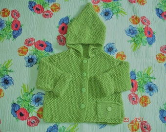 coat baby fille.couleur anise