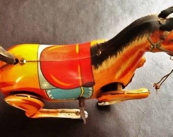 Vintage 1950's Made in Japan Daiya Rearing Horse.