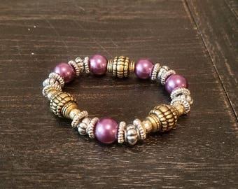 Anique Style Purple beaded Bracelet