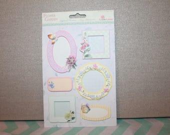 Cadre et en-tête en papier pour création en scrapbooking coloris pastel