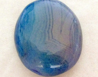 Agate - blue tinted - undrilled - ref5325