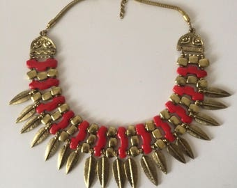 Red and golden choker