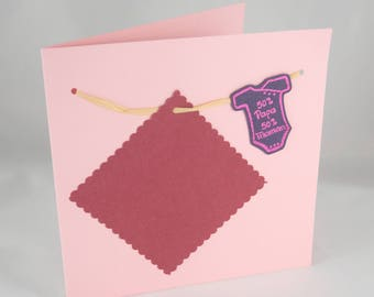 Card or make customizable birth - thread Body announcements laundry