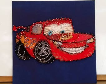 Lightning McQueen String Art