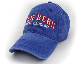 New Bern Embroidered Hat, Royal Blue