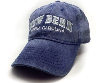 New Bern Embroidered Hat, Navy