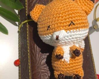 Cute Fox Planner Charm / Keyring / Purse Charm