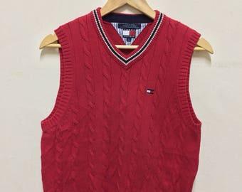 Vintage Tommy Hilfiger Knitwear Vest Small Logo