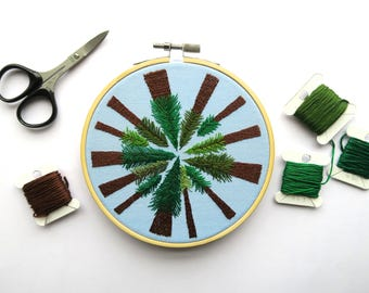 Forest Full Of Trees Embroidery