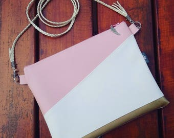 Messenger bag pink/Messenger bag/Messenger bag white/Fashion bag/Crossbody bag/Bag for birthday/Bag for aniversary/