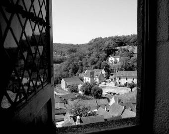 """Photography black and white: """"Window open on the world"""" - home Chapel, FRANCE - 2012"""