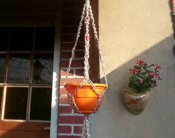 """For small plants pattern """"grain"""" macrame wall hanging"""