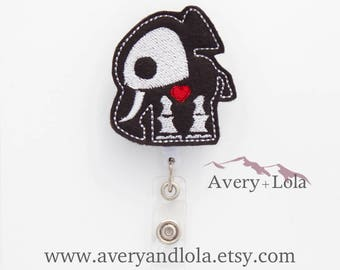 Elephant Skeleton Badge Reel, Elephant Skeleton ID Holder, Xray Badge Reel, ID Badge Holder, Teacher Gift, Nurse Gift, Veterinary Badge Reel