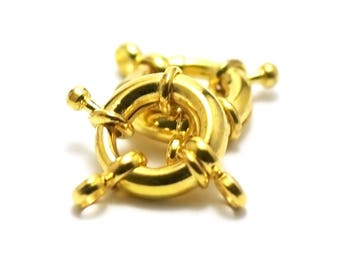 2 buoys, 15 mm, gold clasps
