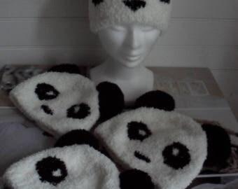 Kids Panda Hat handmade