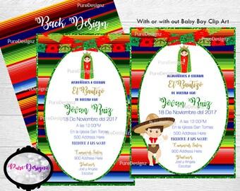 Mexican Bautizo Invitation, Bautizo Invitation, Invitaciones Virgencita,Virgencita Invitation, Virgen Invitation,Mexican Baptism Invitation