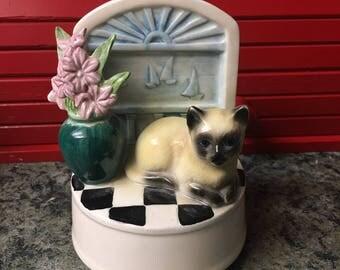 Vintage Siamese kitty music box