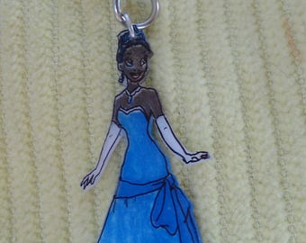 Keychain with a beautiful Princess plastic nuts
