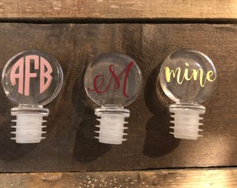 Personalized Wine Stoppers