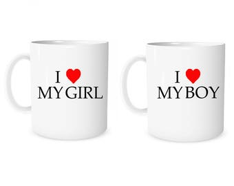 Custom Mug Personalized Mug I Love My Girl I Love My Boy Girlfriend  Mug  Coffee Mug Boyfriend Mug Anniversary Mug Valentine Mug Love Mug