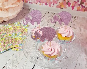 Elephant Cup Cake Toppers