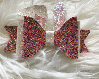 Confetti Pop Easter Bow / Bunny Ears / Rabbit Ears / Celebration Bow / Hair band / Hair clip / Headband