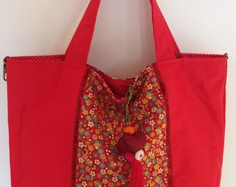 Reversible bag and removable Red