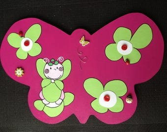 Nursery wooden wall sconces / baby butterfly theme