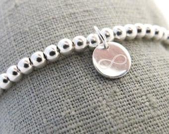 Ball bracelet infinity 925 Silver