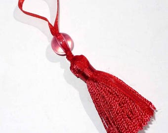 1 Pompom AC110rouge 80mm red organdy