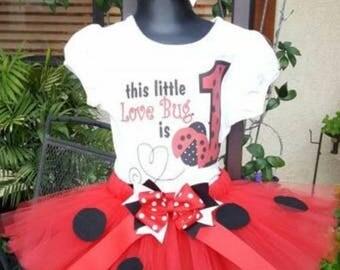 Ladybug birthday tutu love bug birthday tutu