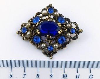 Vintage fashion brooch - Goldtone