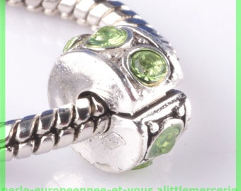 Pearl N823 clip stopper European blocker rhinestones for charms bracelet