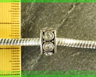 Pearl N14 clip stopper European blocker rhinestones for charms bracelet