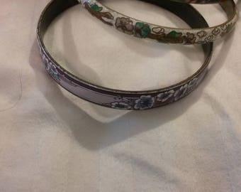 Cloisonne bracelets set of three