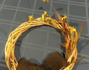 Simple sun flower fall wreath