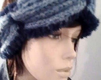 Headband(Banner) hair or hides ears hand-knitted