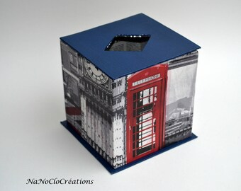 """London """"square"""" decorative tissue box"""