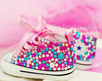 Bedazzled Blinged Out Converse