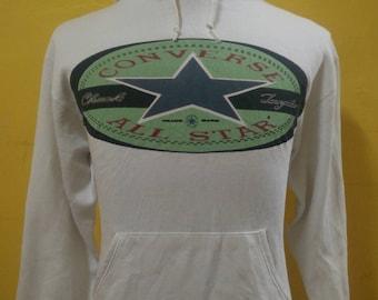Vintage CONVERSE ALL STAR Chuck Taylor Sweatshirt Hoodie Big Logo 90's