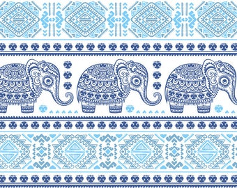 ORIGINAL design, durable and WASHABLE PLACEMAT - elephant, 1 Indian style Decoration B-classic.