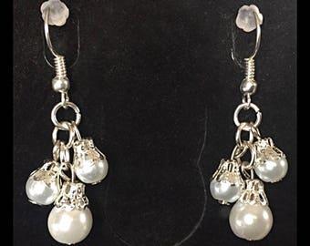 Bouquet of glass beads earrings
