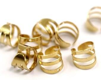 Gold raw brass Stud