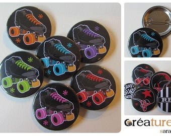 Roller derby choice quad 38mm badge