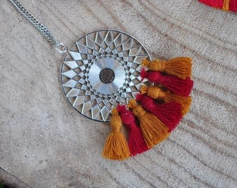 Necklace pendant - Madrid and tassels
